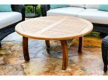 Round Teak Outdoor Coffee Table
