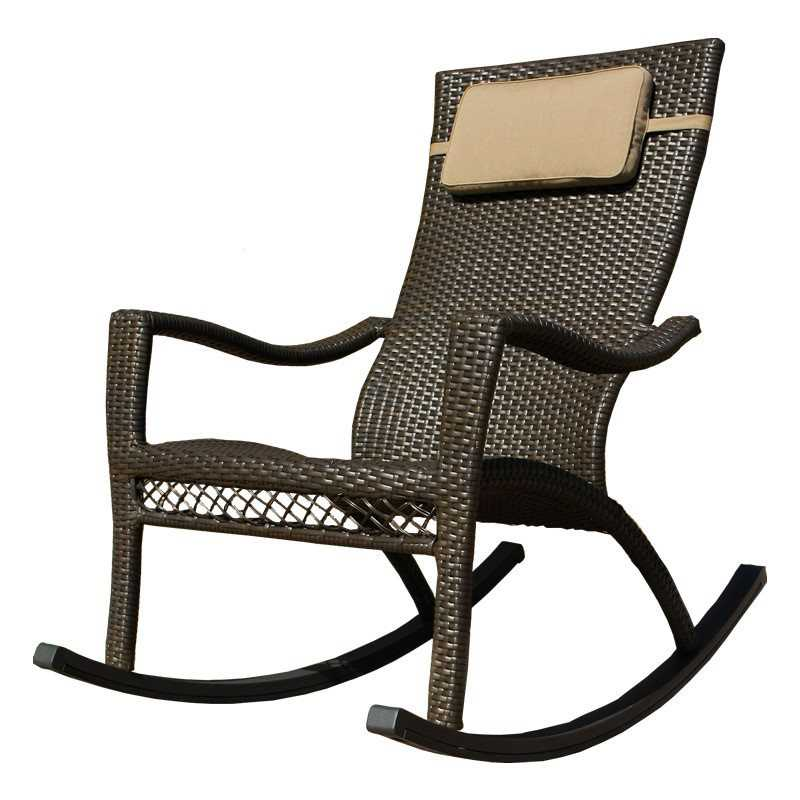 Tortuga Outdoor Tuscan Lorne Wicker Rocking Chair  TLRC