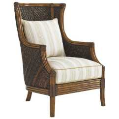 Sailcloth Beach Chairs Chair Gym Replacement Parts Tommy Bahama Bali Hai Rum Loose Back Rattan