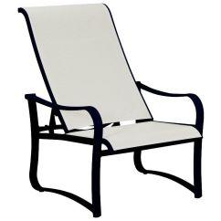 Sling Motion Patio Chairs Pier One Kitchen Chair Cushions Tropitone Shoreline Aluminum Recliner Tp150020