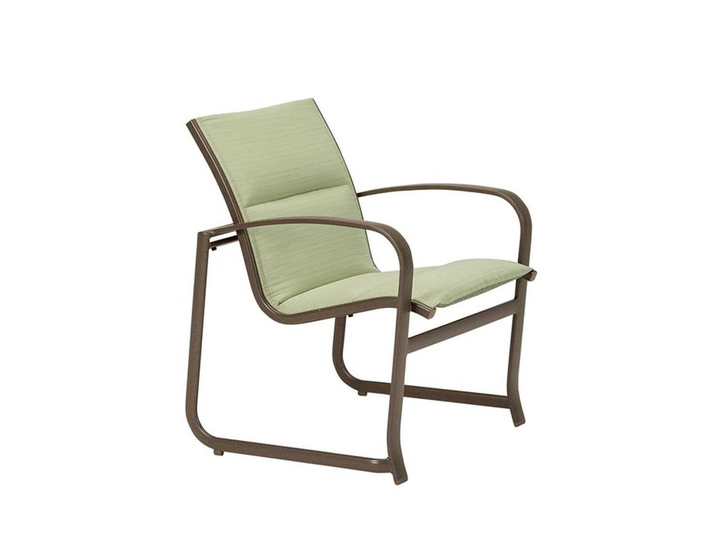 Tropitone Spinnaker Padded Sling Aluminum Dining Chair