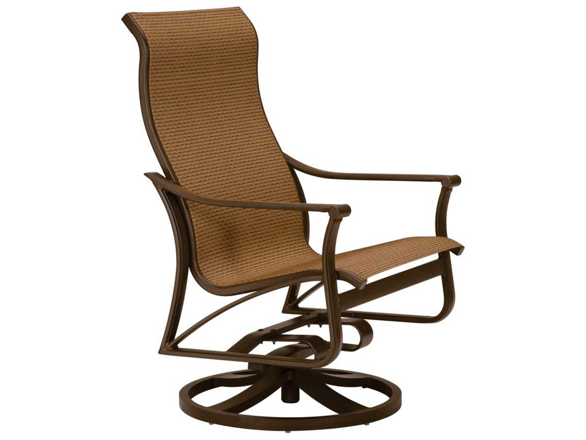 Sling Chairs Tropitone Corsica Sling Aluminum High Back Swivel Action