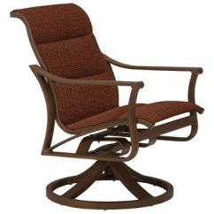 Tropitone Lounge Chairs Used Herman Miller Office Outdoor Luxedecor Corsica Padded Sling Aluminum Swivel Rocker Chair