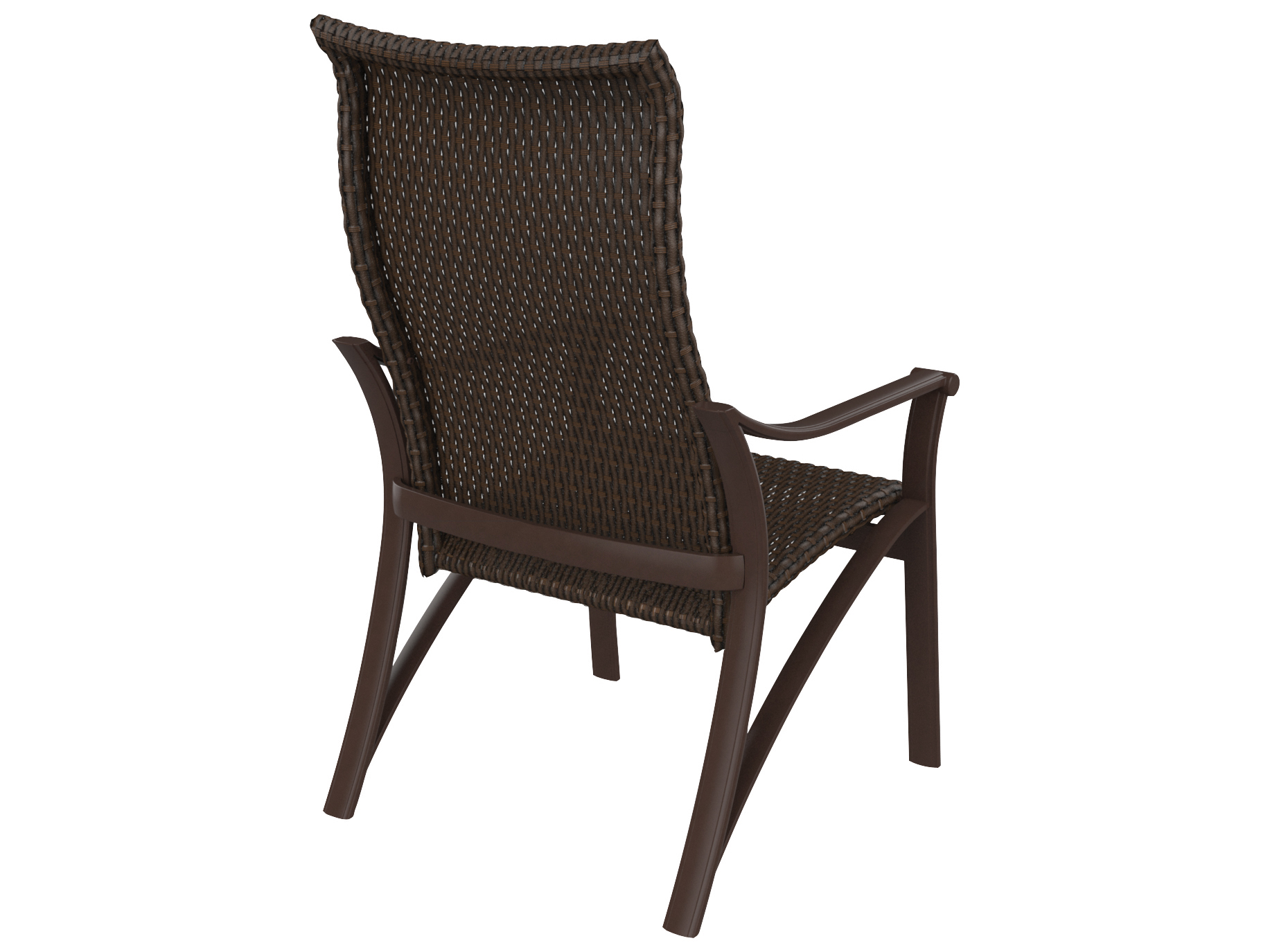 high back chair covers for sale kitchen cushions with ties target tropitone corsica woven dining tp161501ws