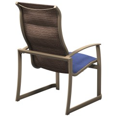 Stacking Sling Chairs Patio The First Years High Chair Tropitone Mainsail Padded Aluminum Stackable Dining