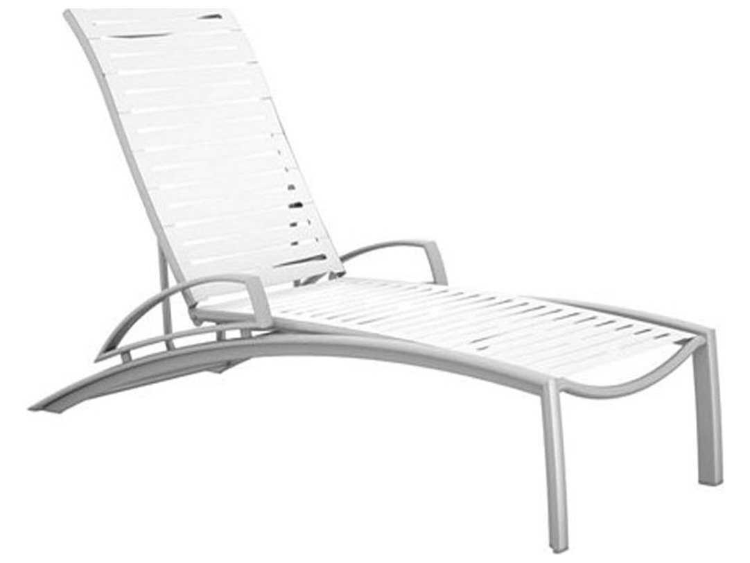 Tropitone South Beach Ribbon Aluminum Chaise Lounge With