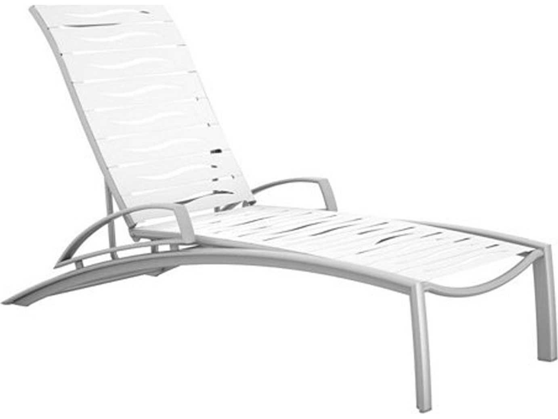 Tropitone South Beach Wave Segment Aluminum Chaise Lounge