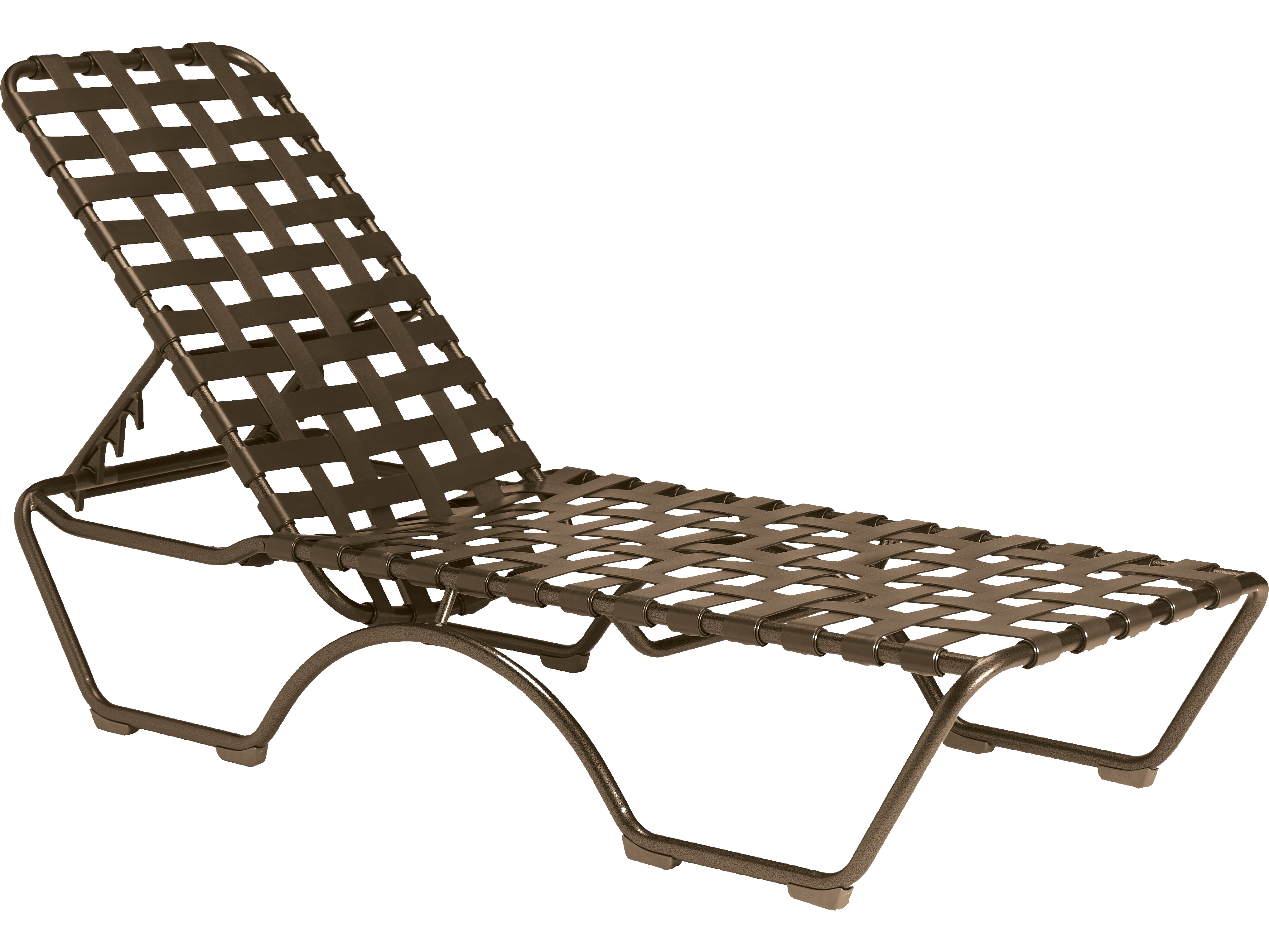 lounge chair replacement straps black and white striped dining tropitone kahana cross strap aluminum stackable chaise