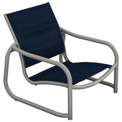 Tropitone Lounge Chairs Grey High Back Dining Chair La Scala Padded Sling Aluminum Sand 330713ps
