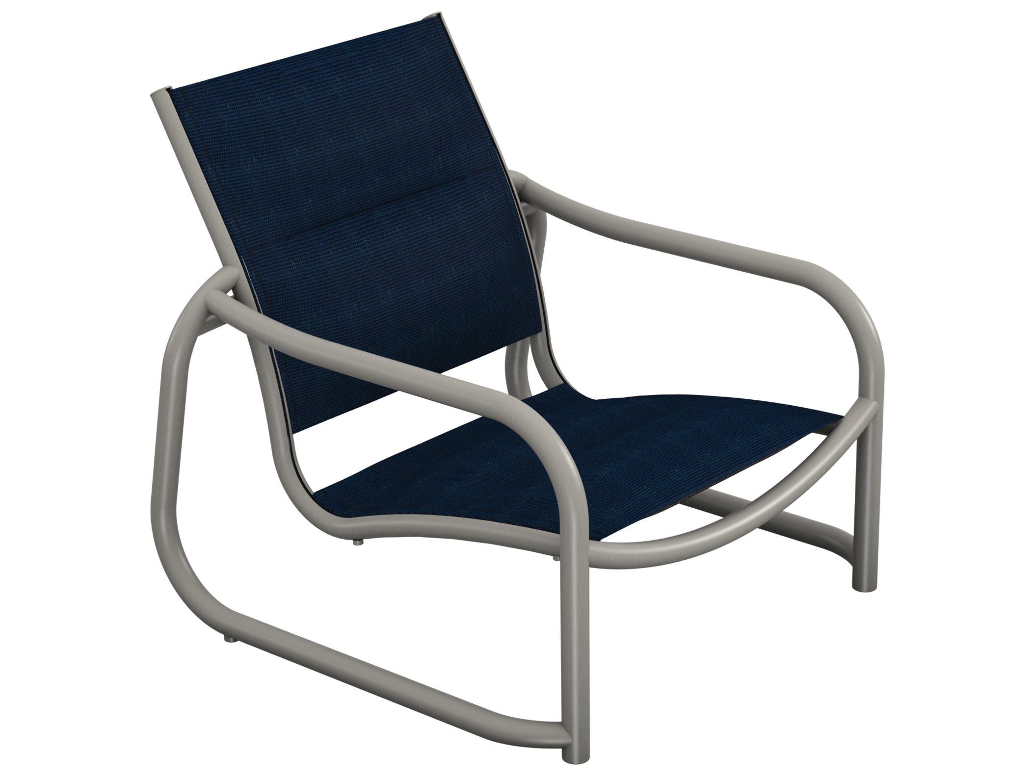 Sling Chairs Tropitone La Scala Padded Sling Aluminum Sand Chair