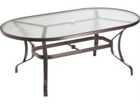Tropitone Cast Aluminum 72 x 40 Oval Dining Table with ...