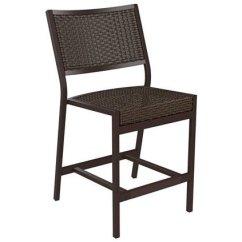 Counter Height Chair Slipcovers Zero Gravity Oversized Tropitone Cabana Club Woven Armless Stationary