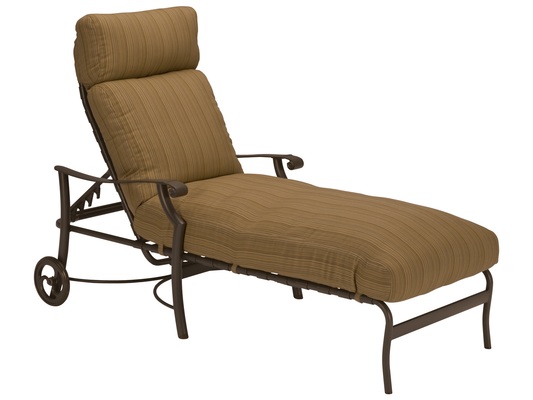 metal lounge chair with wheels covers thunder bay tropitone montreux cushion aluminum chaise