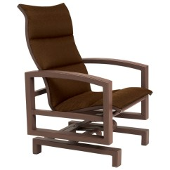 Sling Motion Patio Chairs Van Der Rohe Chair Tropitone Lakeside Padded Aluminum Glider Action