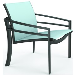 Tropitone Lounge Chairs Salon Waiting Room Kor Relaxed Sling Aluminum Chair 891511