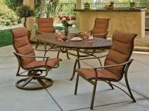 Tropitone Corsica Padded Sling Aluminum Dining Set Cpsds