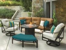 Tropitone Kenzo Cushion Aluminum Crescent Sofa Tp391410cs