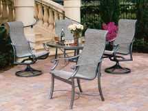 Tropitone Montreux Sling Aluminum Dining Set