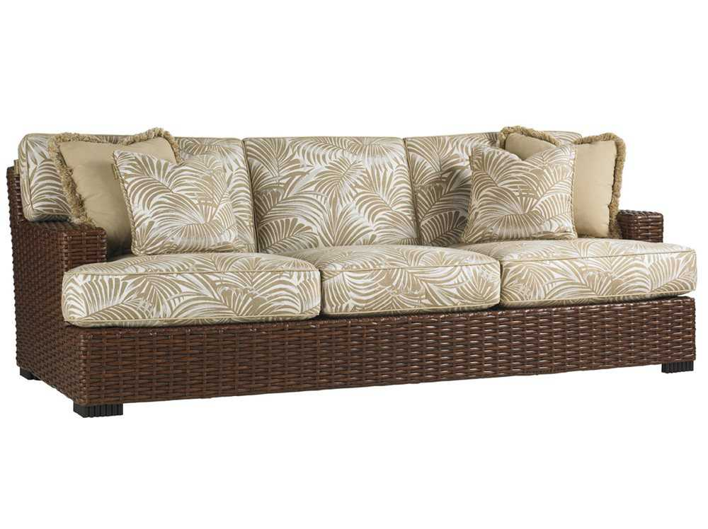 white sofa fabric best quality leather recliner tommy bahama outdoor ocean club pacifica wicker | 3130-33