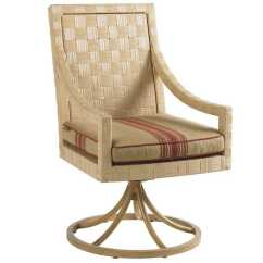Wicker Swivel Outdoor Dining Chair Room Table With Chairs Tommy Bahama Canberra Surf And Sand