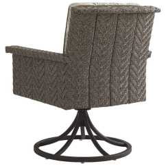 Wicker Swivel Outdoor Dining Chair Used Banquet Covers Tommy Bahama Blue Olive Rocker