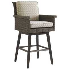 Outdoor Bar Chairs Folding Adirondack Chair Diy Tommy Bahama Blue Olive Wicker Swivel Stool