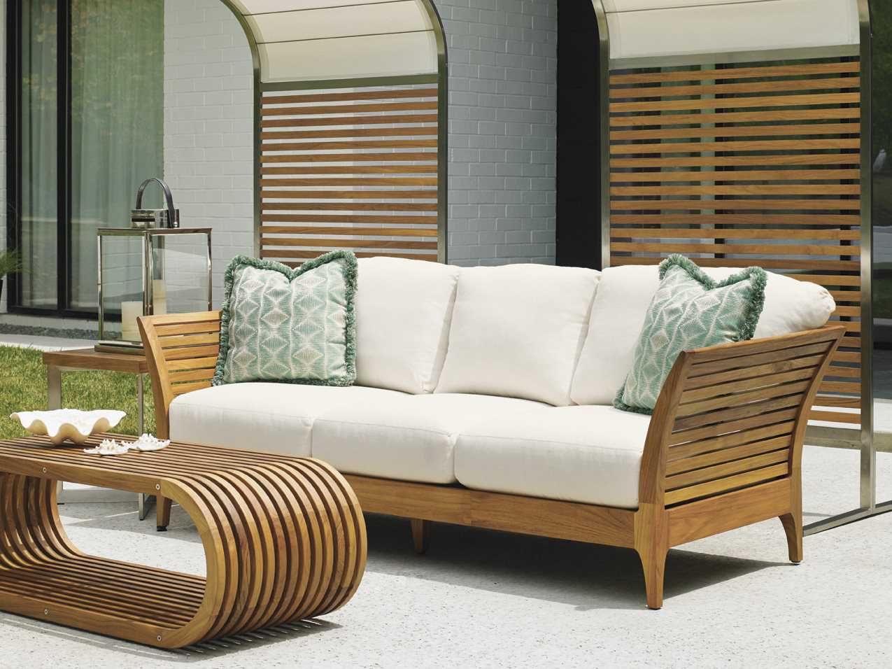 chic sofa set brown sofas decor tommy bahama outdoor tres teak cushion 3401 33
