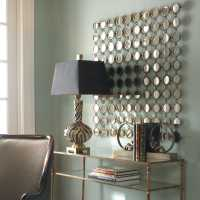 Uttermost Dinuba 40 x 40 Antique Silver Champagne Wall ...