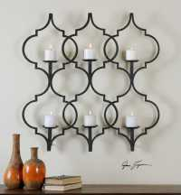 Uttermost Zakaria Metal Candle Wall Sconce | UT13998