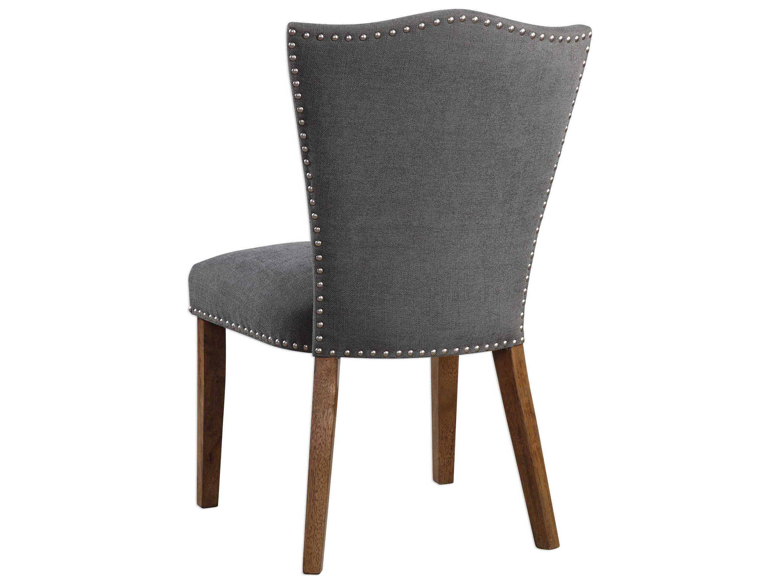 espresso dining chair charleston and a half slipcover uttermost ruhls gray side