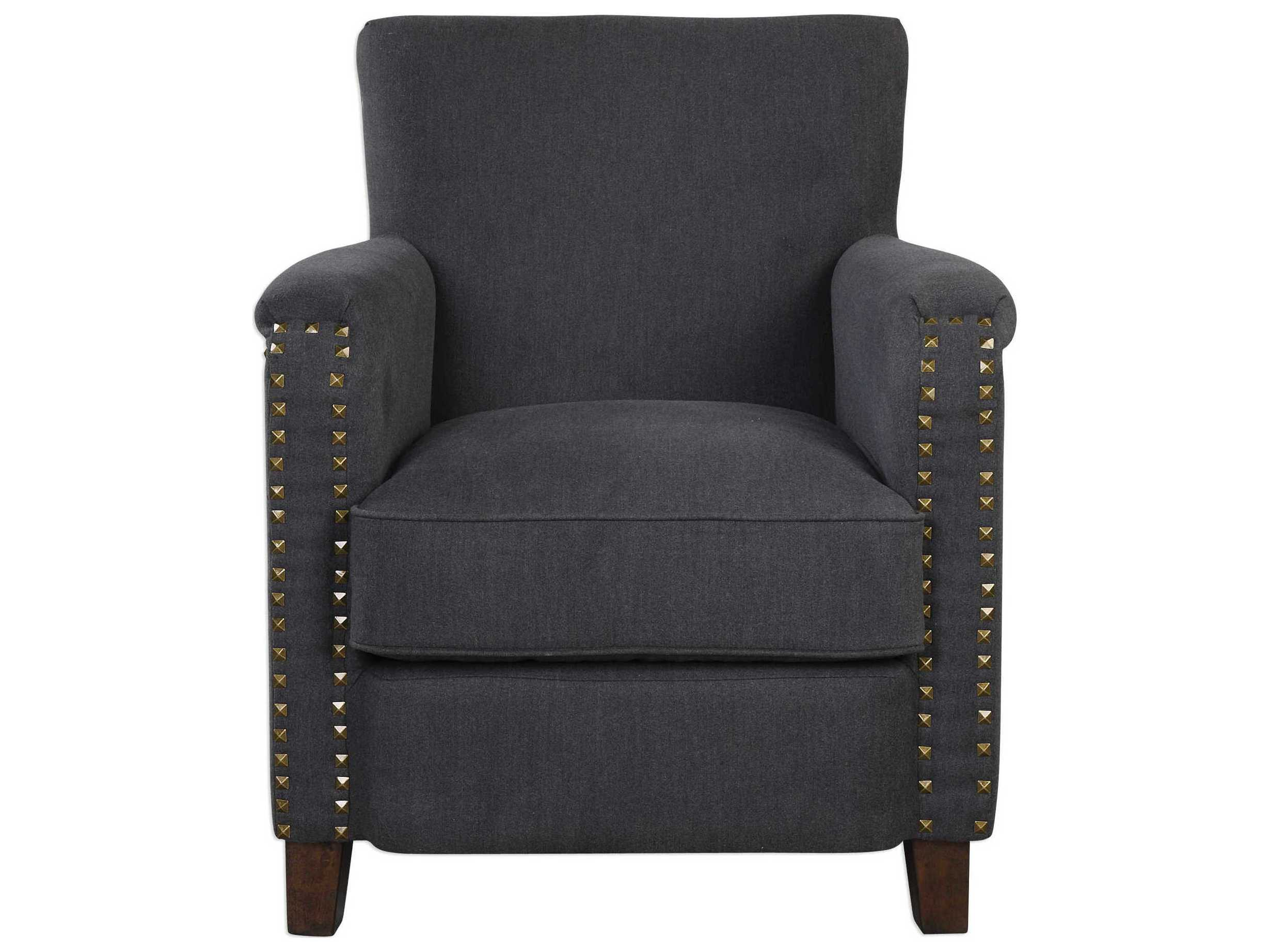 Grey Accent Chairs Uttermost Finchly Deep Gray Accent Chair Ut23371