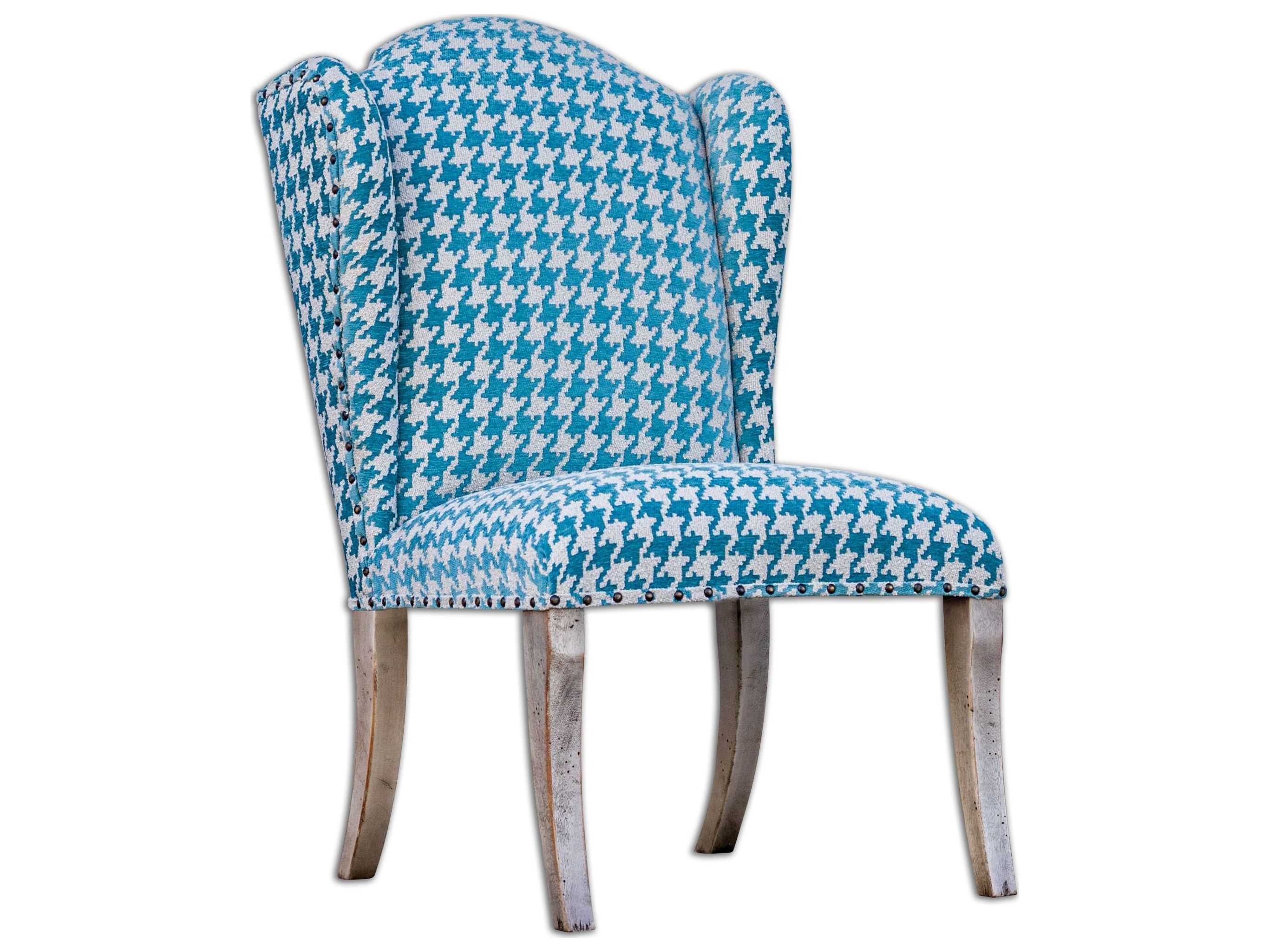 Armless Accent Chairs Uttermost Winesett Blue Armless Accent Chair Ut23618