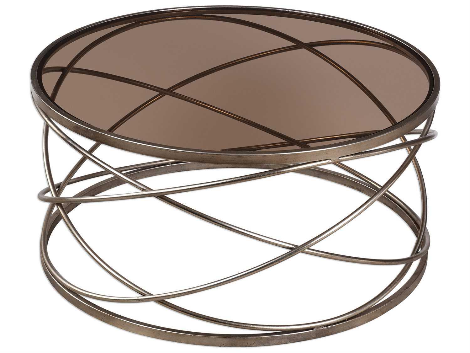 Uttermost Grace Feyock Marella Silver Iron Coffee Table