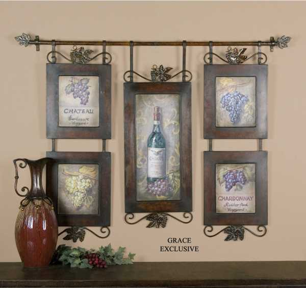 Uttermost Hanging Wine Framed Wall Art Ut50791