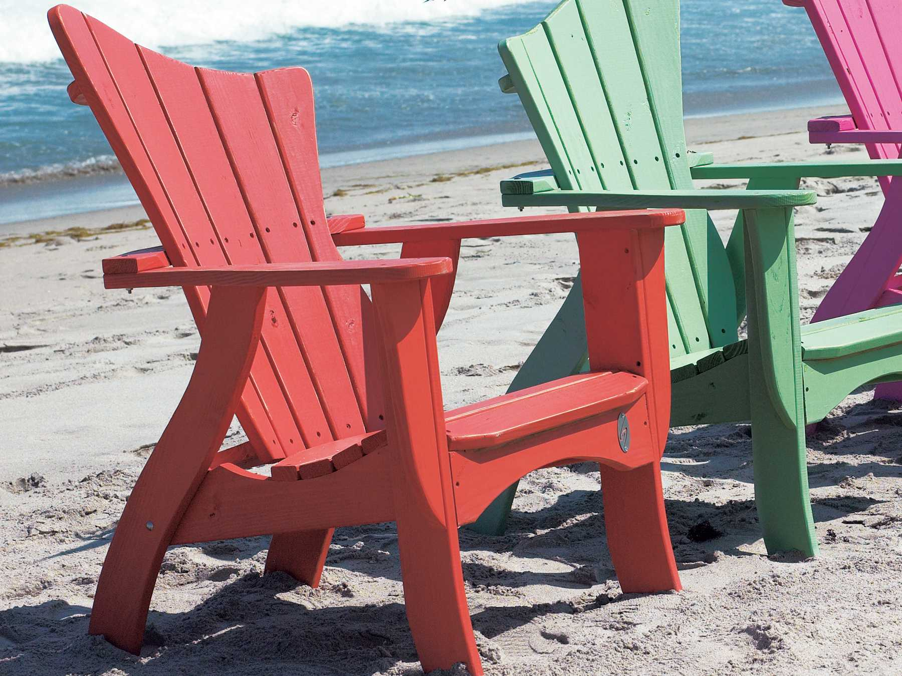 Uwharrie Chair Wave Wood Adirondack Chair  7011