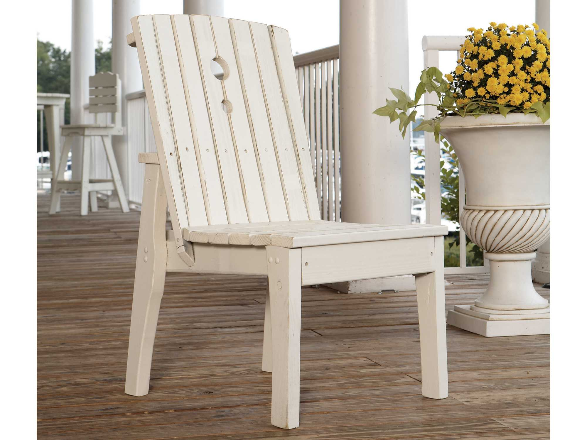 Uwharrie Chair Behren Wood Adirondack Dining Side Chair  B096