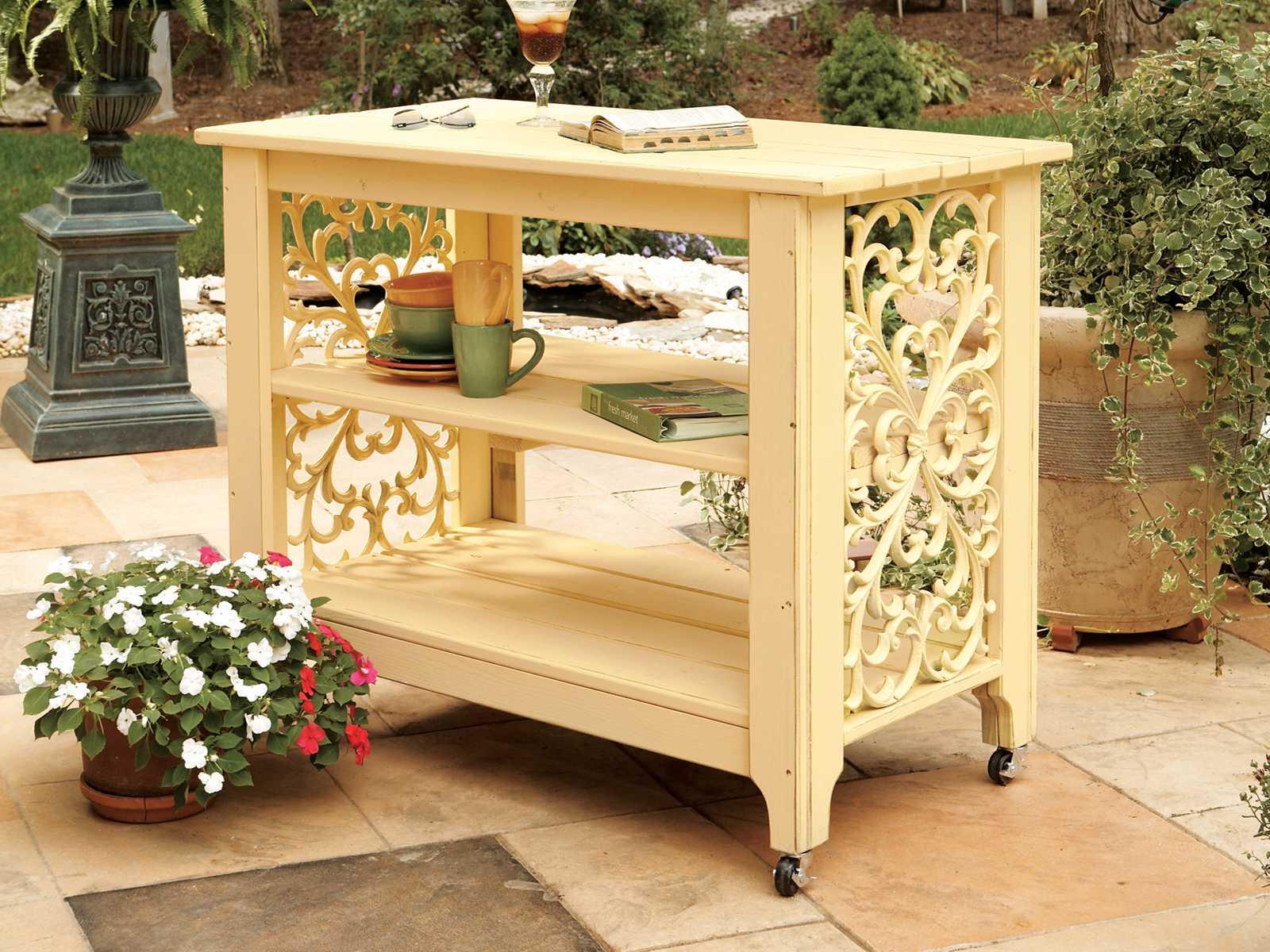 lifetime adirondack chairs hanging chair stand plans uwharrie veranda wood serving cart | uwv090