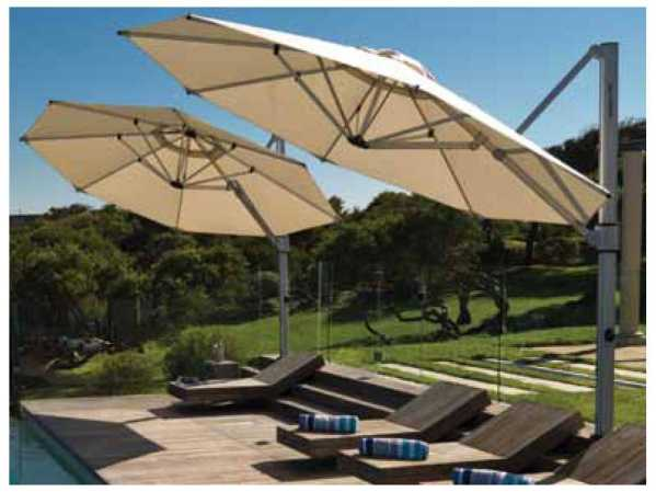 Windward Design Group Haven Cantilever 13 Feet Octagon Crank Umbrella Winwcan13cr