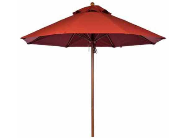 Windward Design Group Tahiti Fiberglass Market 7.5 Feet Wide Pulley & Pin Umbrellas Wmuf-7pp