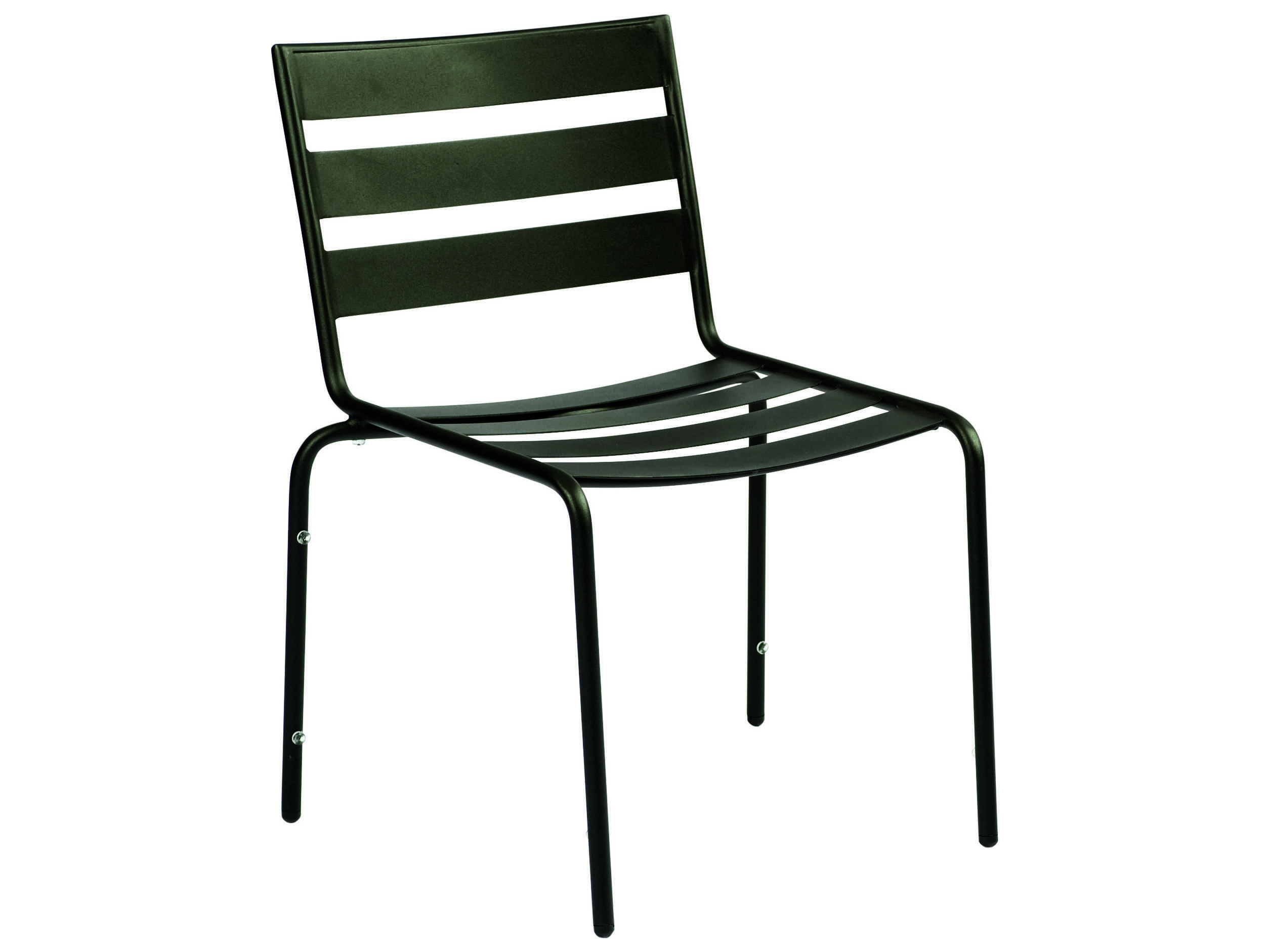 Black Metal Patio Chairs Woodard Cafe Series Wrought Iron Stackable Dining Chair In