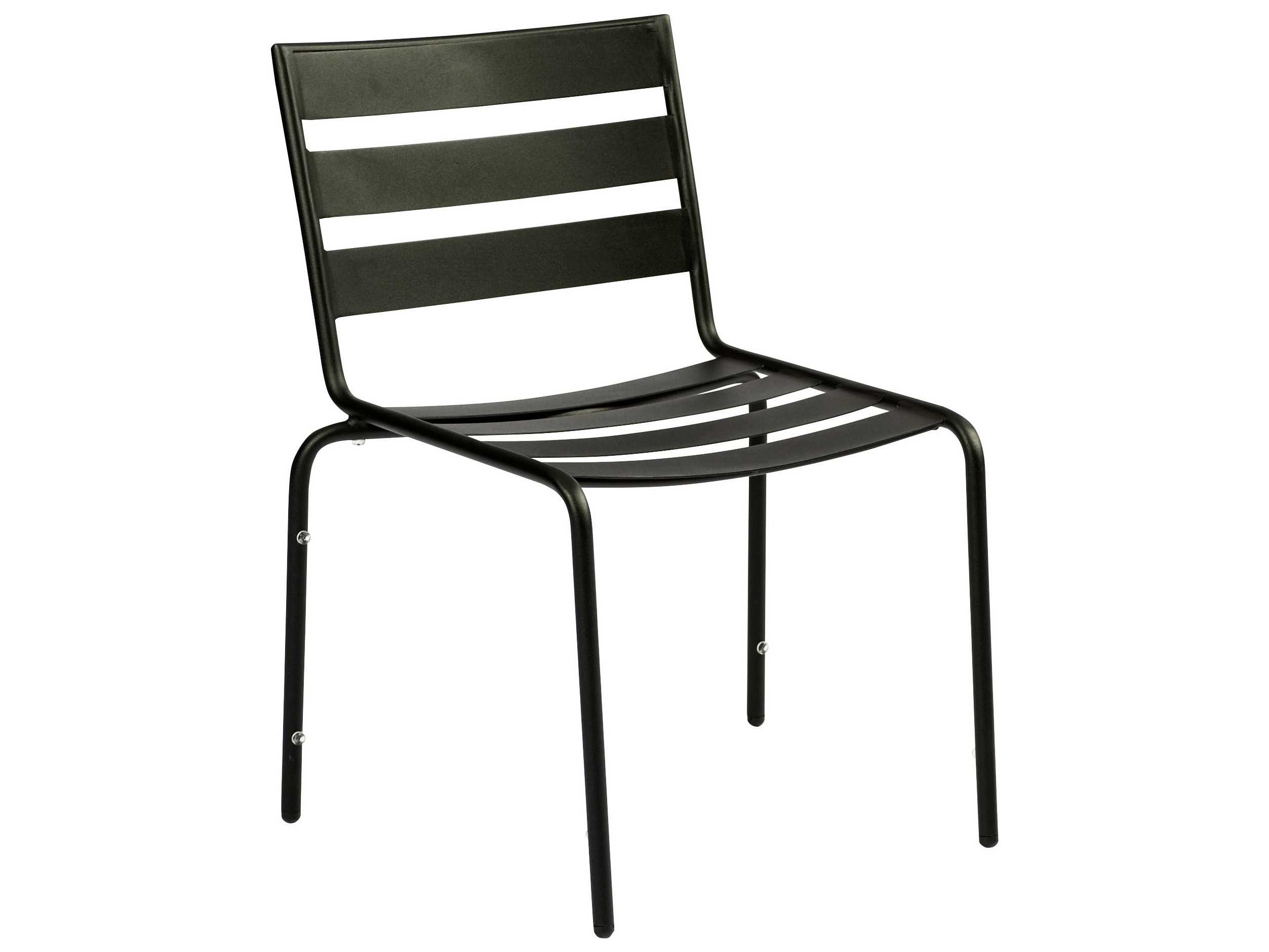 metal stacking chairs outdoor chair covers uk to buy woodard cafe series wrought iron dining in mercury