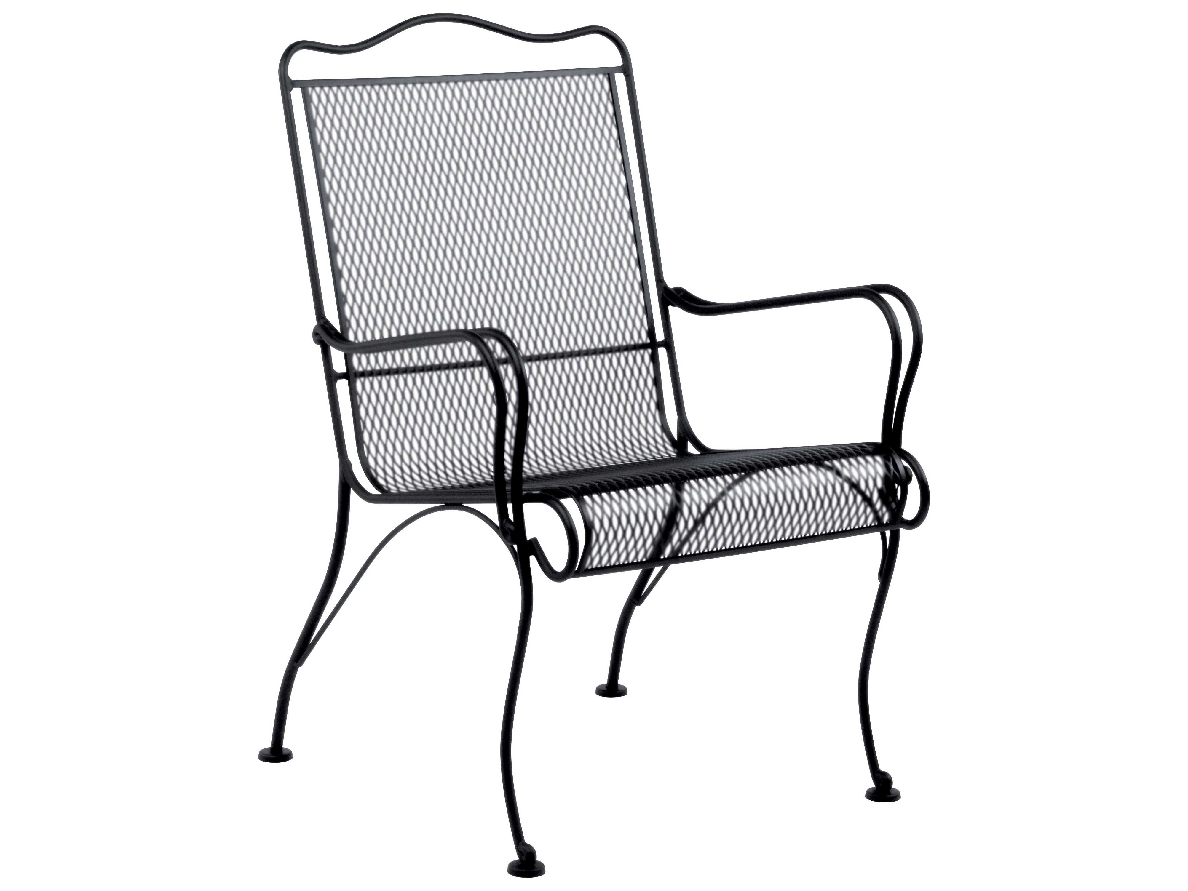 Mesh Patio Chairs Woodard Tucson Wrought Iron High Back Lounge Chair 1g0006