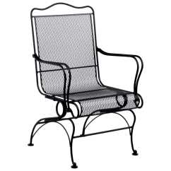 Wrought Iron Chair Steel Ergonomic Woodard Tucson High Back Coil Spring