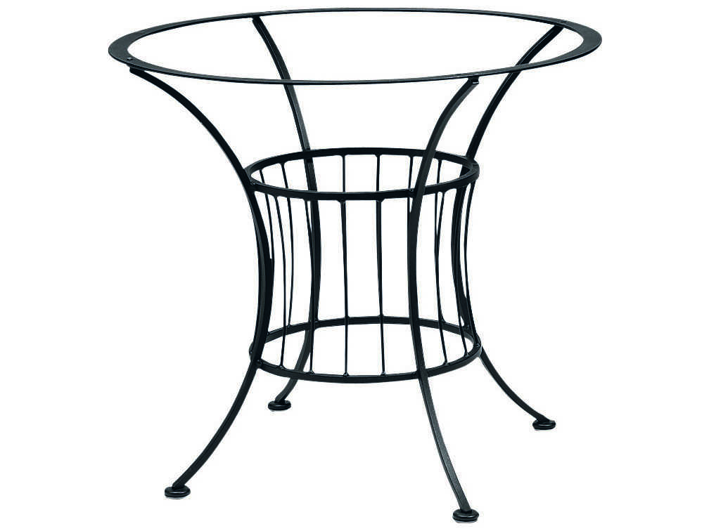 Woodard Easton Wrought Iron Dining Table Base Only