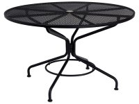 Woodard Mesh Wrought Iron 48 Round Table with Umbrella ...