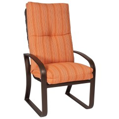 48 High Back Outdoor Chair Cushions Hanging Natural Woodard Cayman Isle Cushion Aluminum Dining Set Ggdds
