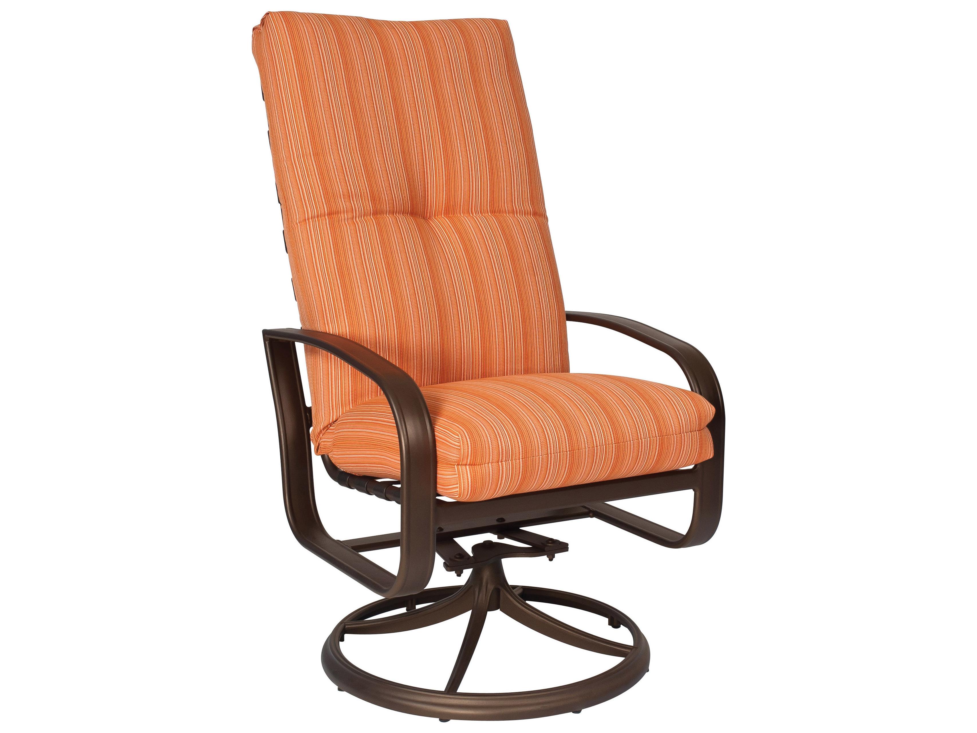 spotlight outdoor chair covers evac hire woodard cayman isle cushion aluminum high back swivel