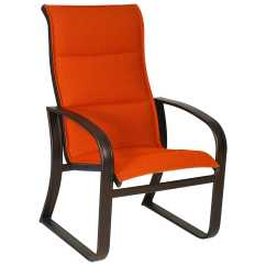 Lounge Chair Replacement Straps Tempur Pedic Tp4000 Task Woodard Cayman Isle Padded Sling Aluminum High Back Dining
