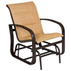 Sling Motion Patio Chairs Chair Gym Commercial Woodard Cayman Isle Padded Aluminum Glider Lounge