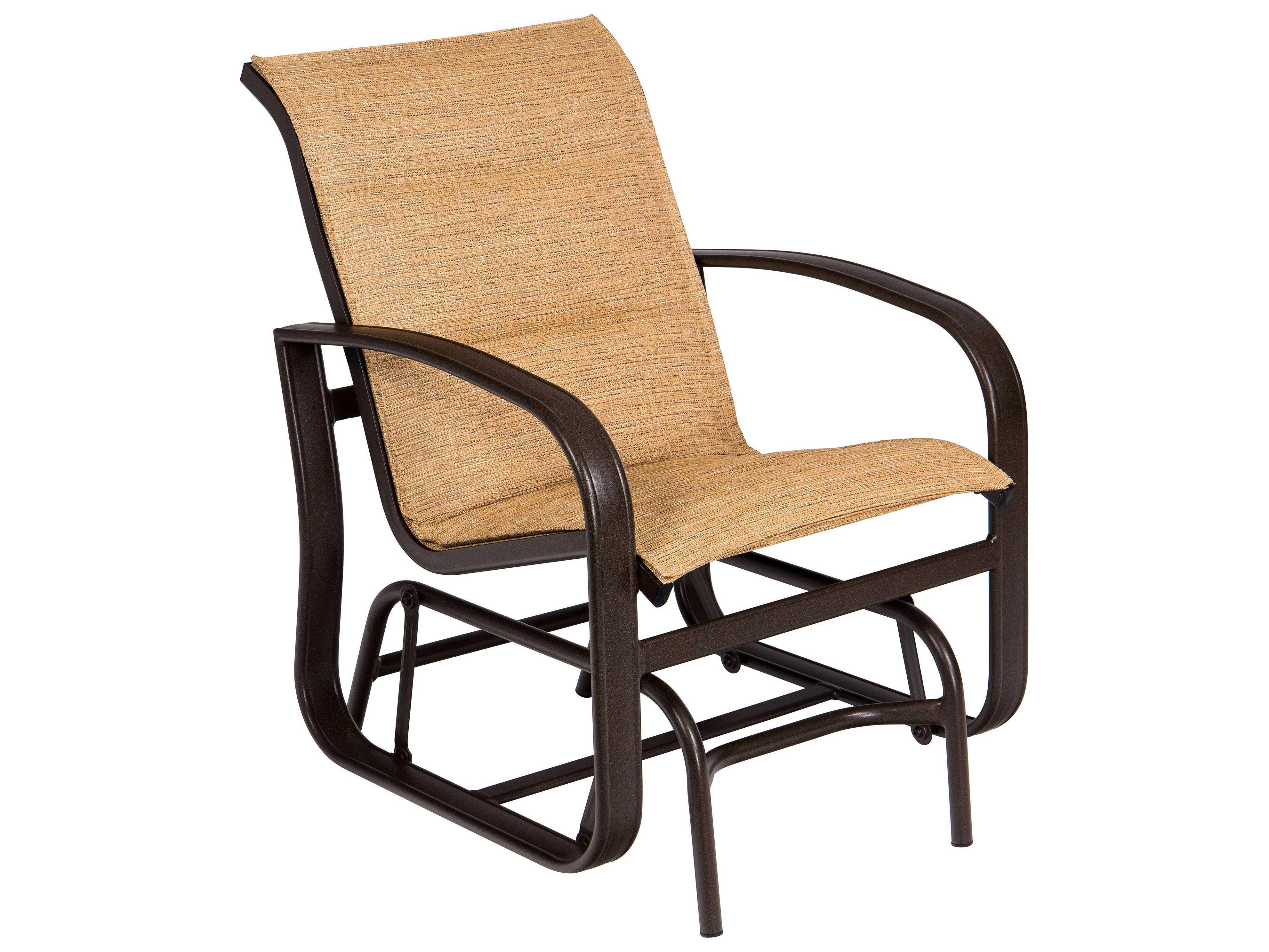 beach sling chair farm style chairs woodard cayman isle padded aluminum glider lounge